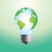 Earth and light bulb concept