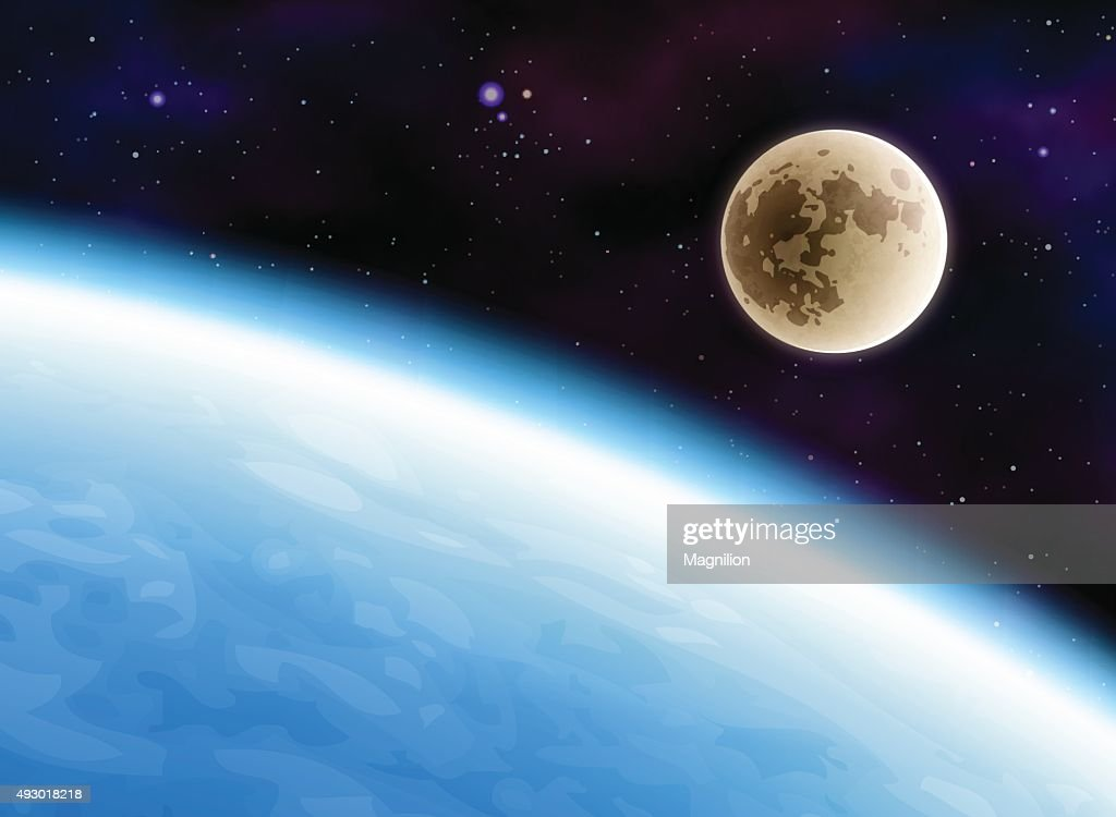 Earth and Moon : stock illustration