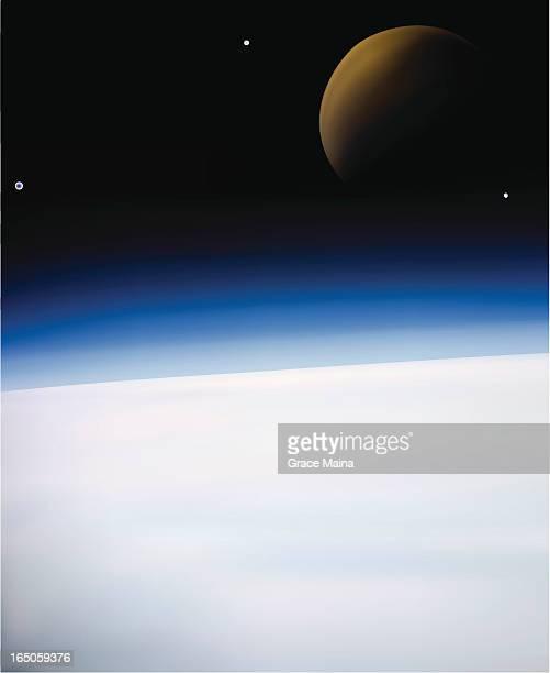 Earth and moon - VECTOR