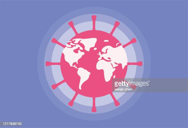 earth and virus - latitude stock illustrations