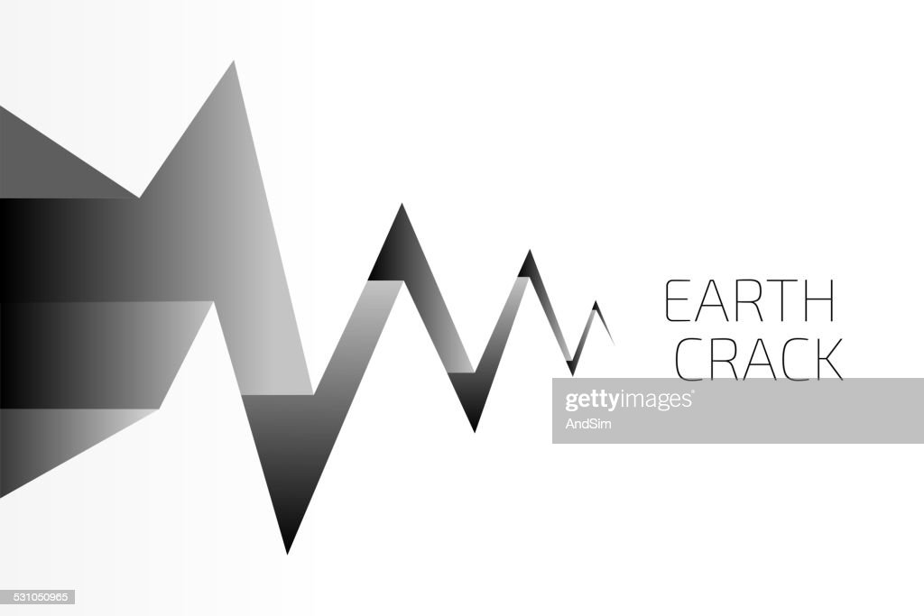 Earth Crack Vector