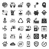 Earth day and ecology icon, solid icon set