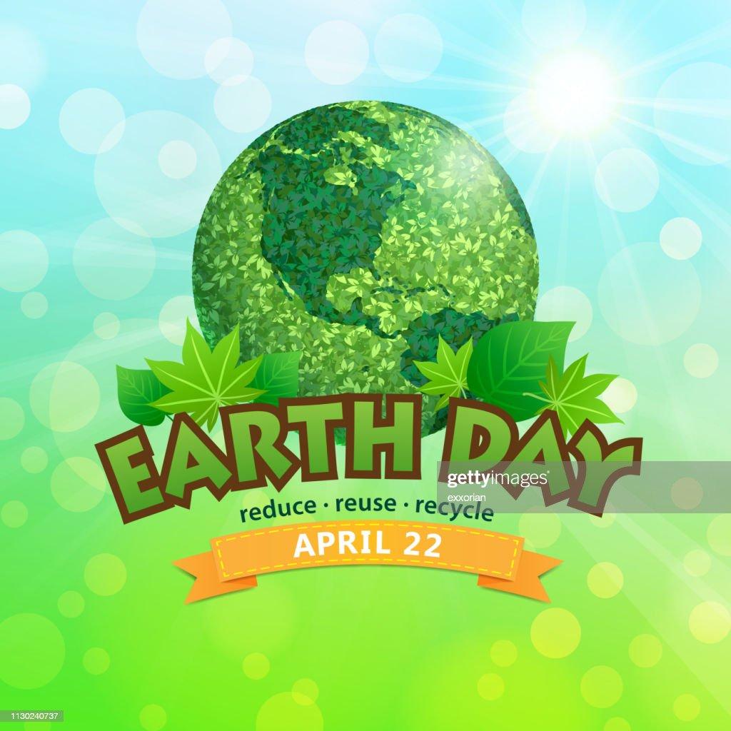 Earth Day am 22. April Symbol : Stock-Illustration