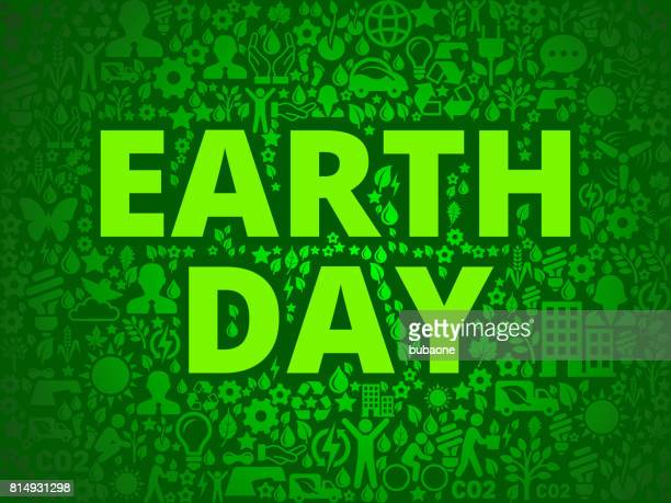 earth day environmental conservation vector icon pattern - earth day stock illustrations