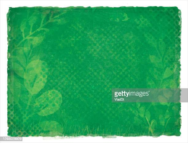 earth day green environment nature recycling grunge watercolor background - earth day stock illustrations