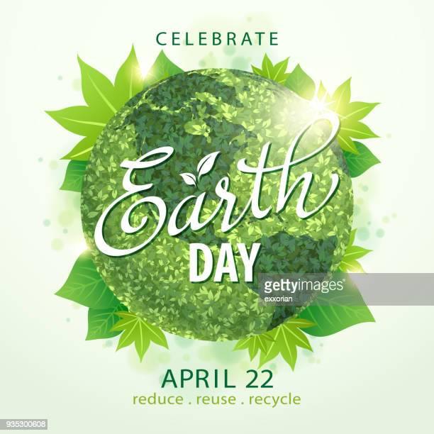 Earth Day Green Globe