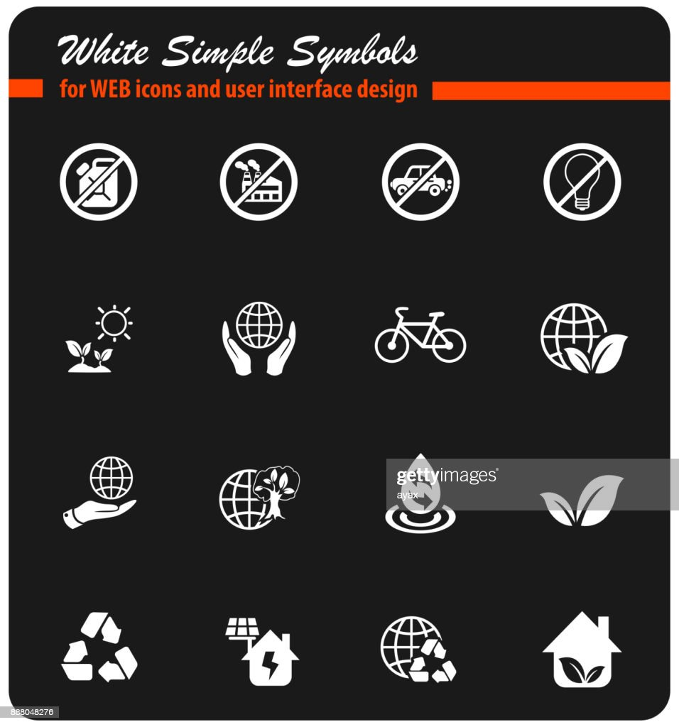 Earth Day Icon Set Vector Art Getty Images