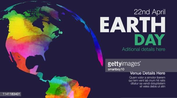 bildbanksillustrationer, clip art samt tecknat material och ikoner med earth day affisch eller mall - klimatförändring