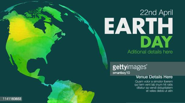earth day poster or template - world politics stock illustrations
