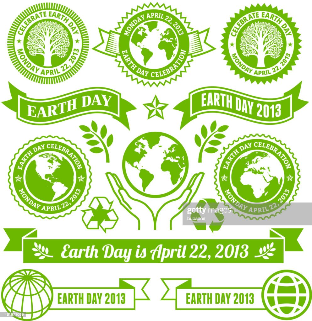 Earth Day royalty free vector Banners, Buttons, and Symbols