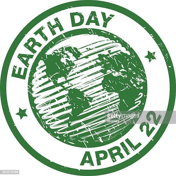 Erde Tag Stempel