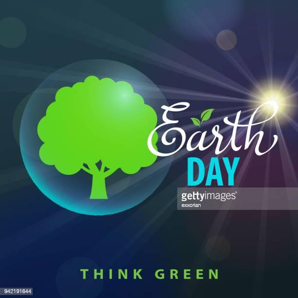 Erde Tag Denken Sie grün