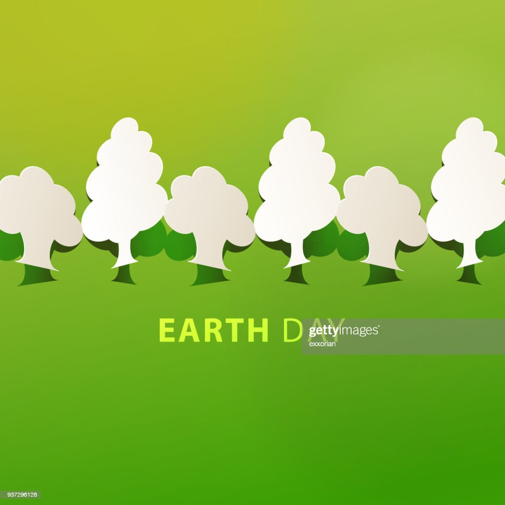 Earth Day Baumpflanzungen : Stock-Illustration