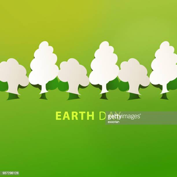 earth day tree planting - earth day stock illustrations