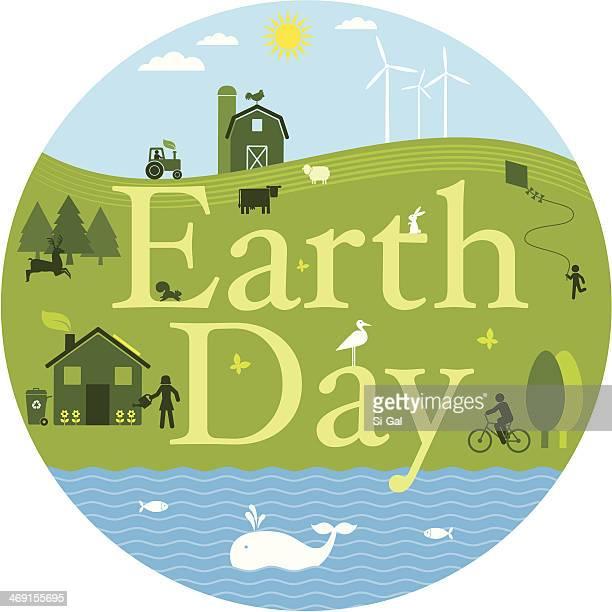 illustrazioni stock, clip art, cartoni animati e icone di tendenza di giorno della terra - giornata mondiale della terra