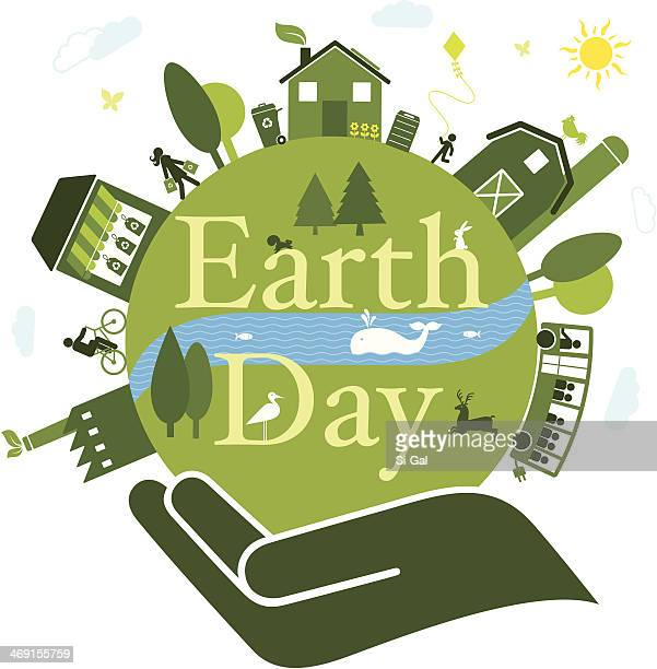 earth day - earth day stock illustrations