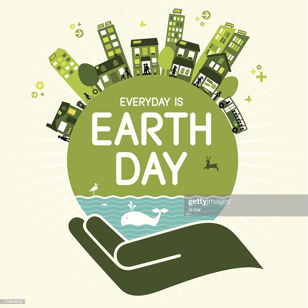 Earth Tag : Stock-Illustration