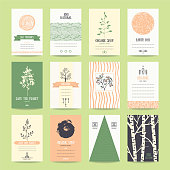 Earth Day, World Environment Day, Organic goods Templates