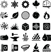 Earth Elements Icons - Black Series