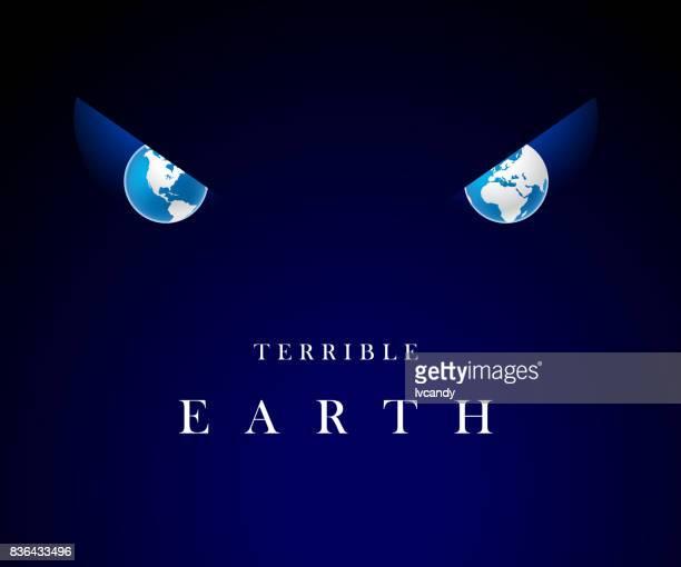 Earth eyes in dark