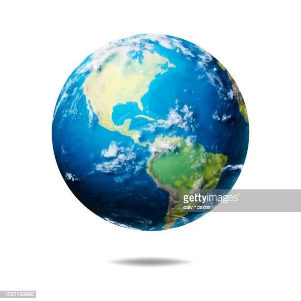 earth globe realistic illustration - planet earth stock illustrations