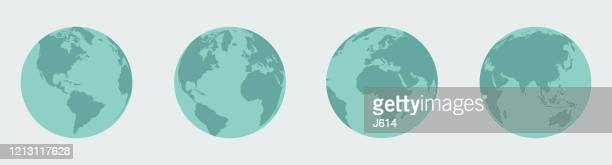 earth, globe set - global stock illustrations