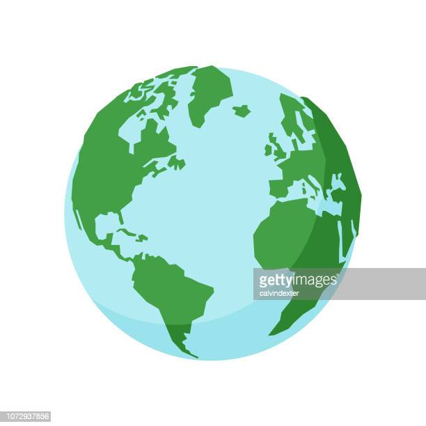 illustrazioni stock, clip art, cartoni animati e icone di tendenza di earth globe - pianeta terra