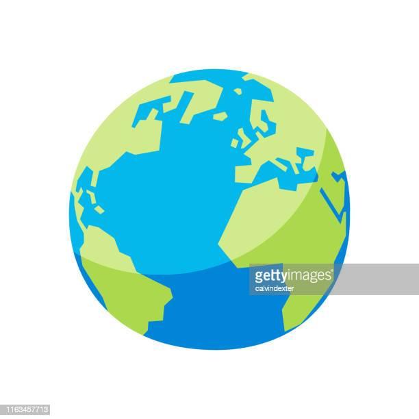 stockillustraties, clipart, cartoons en iconen met earth globe - wereldbol