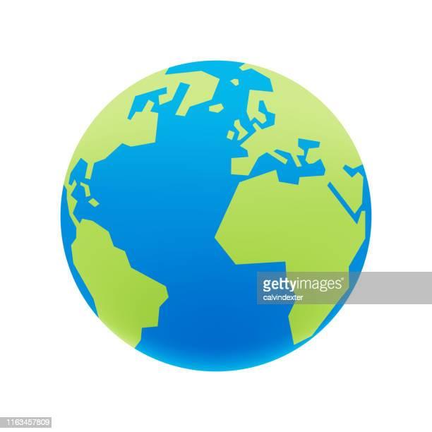 earth globe - planet earth stock illustrations