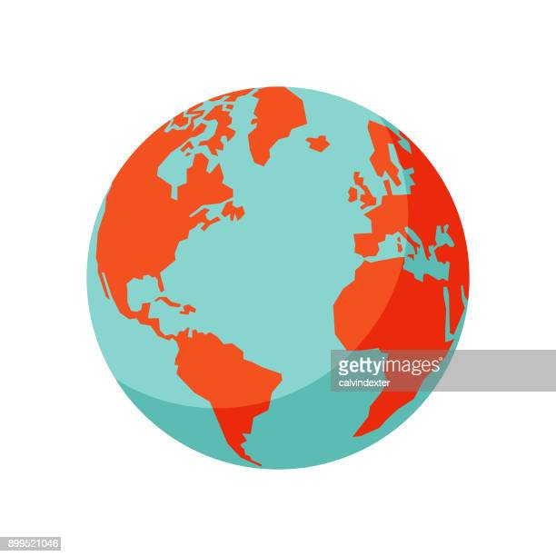 earth globe - global stock illustrations