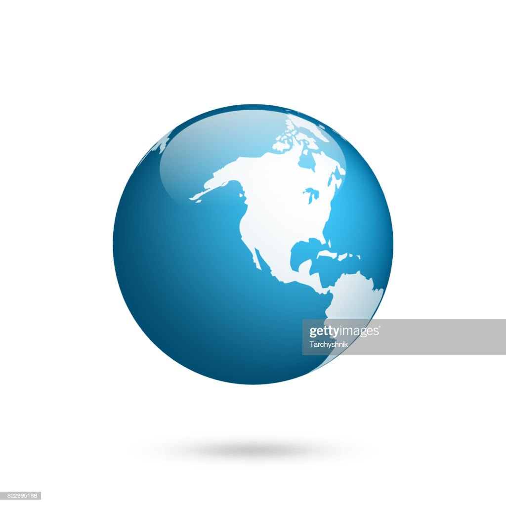 Earth globe world map set planet with continentsafrica asia world map set planet with continentsrica asia australia europe north america and south america gumiabroncs Choice Image
