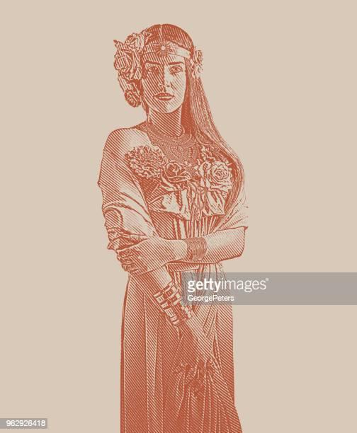 earth goddess - aphrodite stock illustrations, clip art, cartoons, & icons