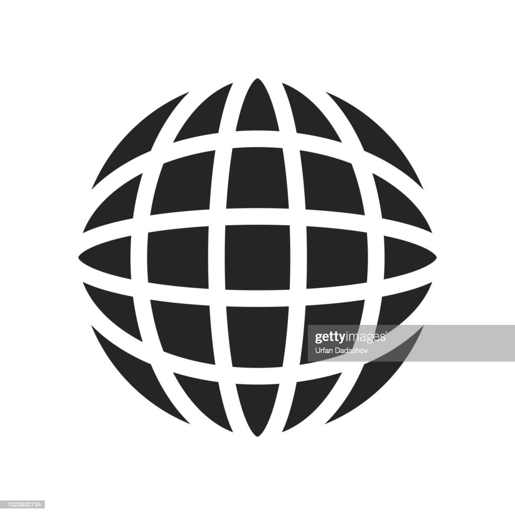 Earth icon vector sign and symbol isolated on white background, Earth logo concept