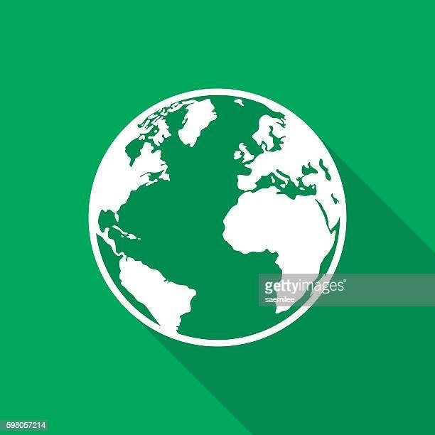 Earth Icon White