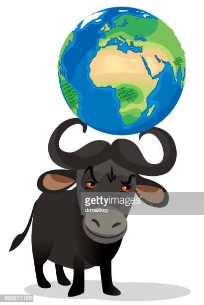 erde im ochsen horn - bullfighter stock-grafiken, -clipart, -cartoons und -symbole