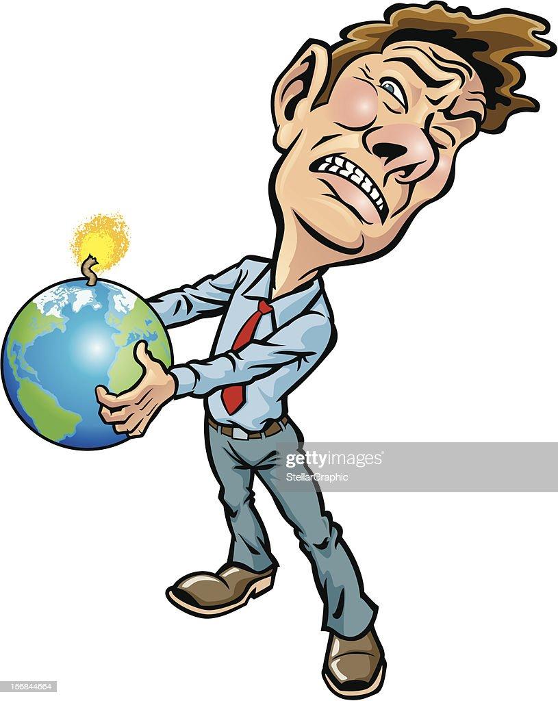 Earth in Peril : Vektorgrafik