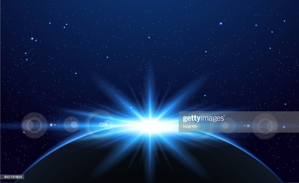 Earth in the universe : stock illustration