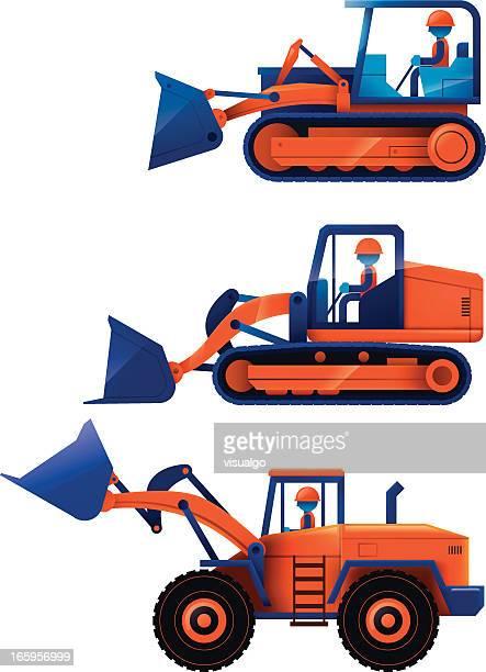 ショベルカー - ブルドーザー点のイラスト素材/クリップアート素材/マンガ素材/アイコン素材