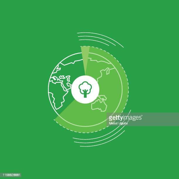 illustrazioni stock, clip art, cartoni animati e icone di tendenza di earth tree, save earth save tree, concept. - clima