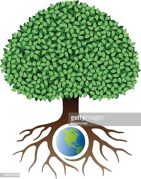 earth tree - ancestry stock illustrations, clip art, cartoons, & icons
