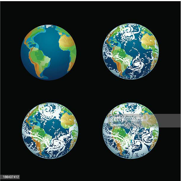 earth - satellite view stock illustrations