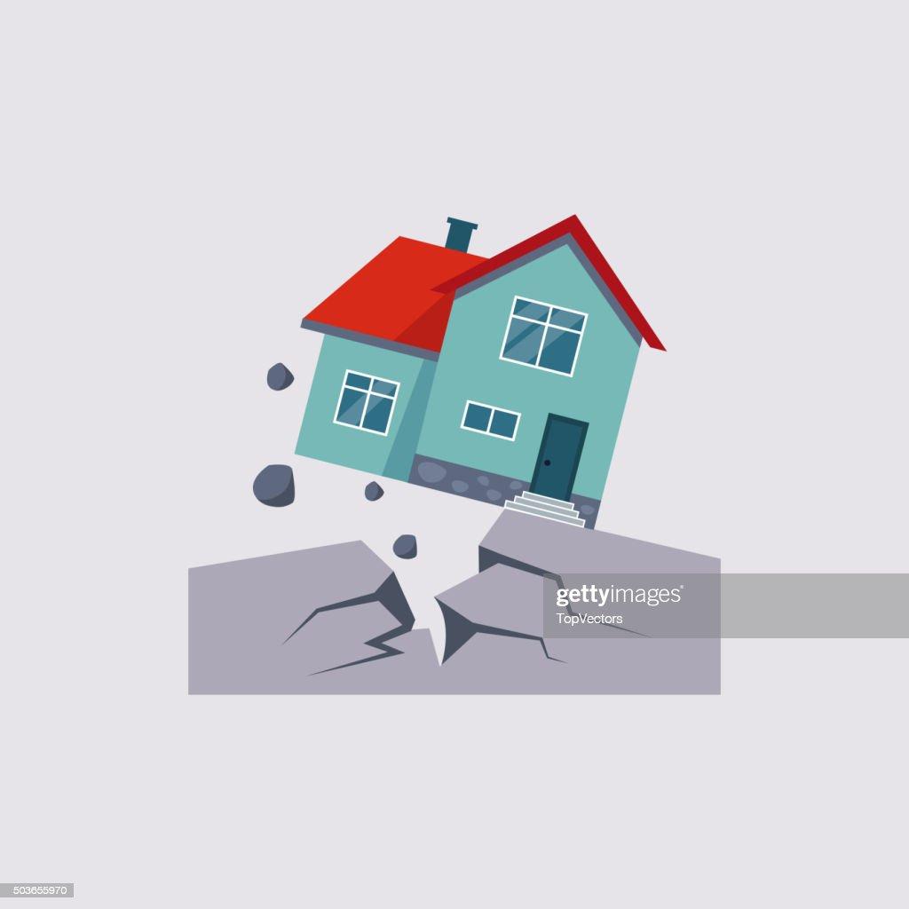Earthquake Insurance Vector Illustration