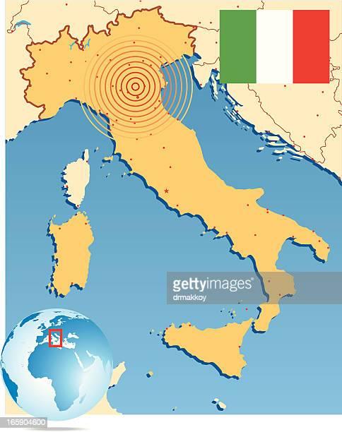 Earthquake Italy Map