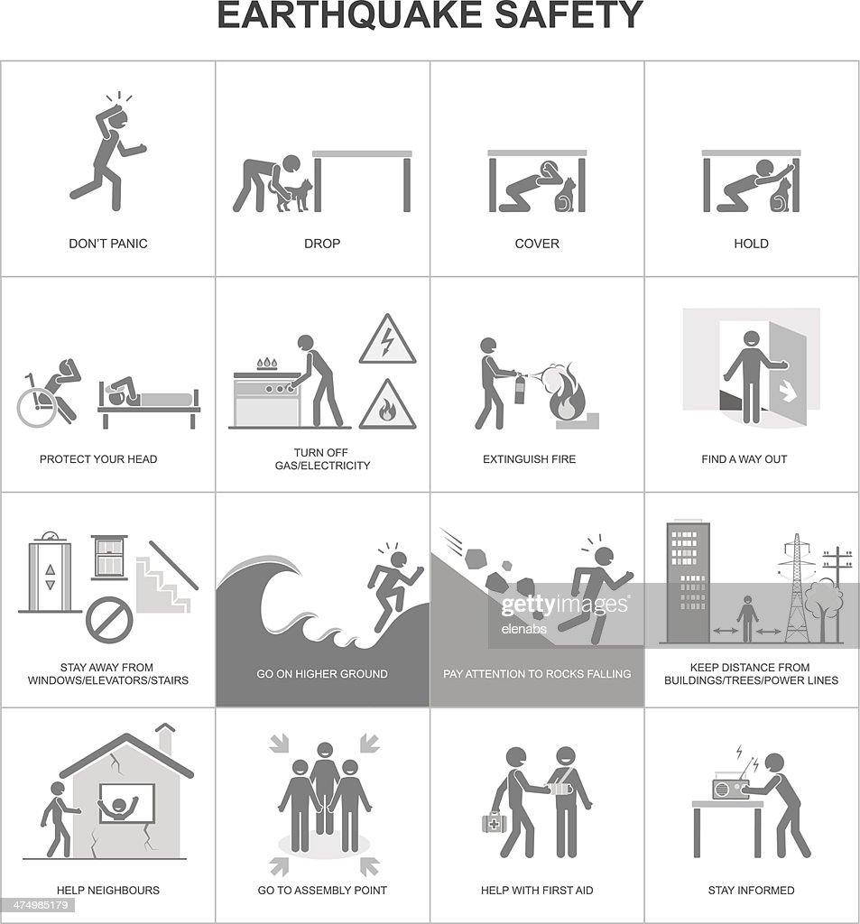 Earthquake safety procedure