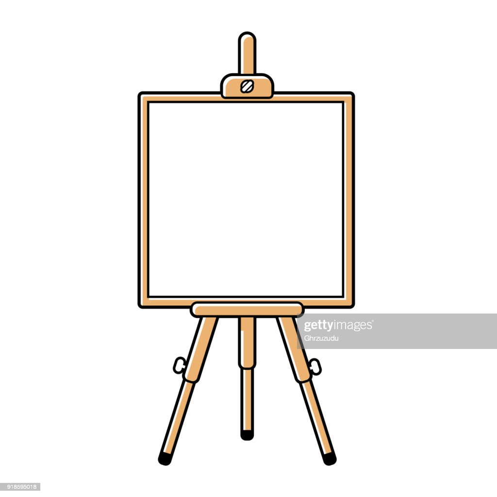 Easel or presentation stand with a white board