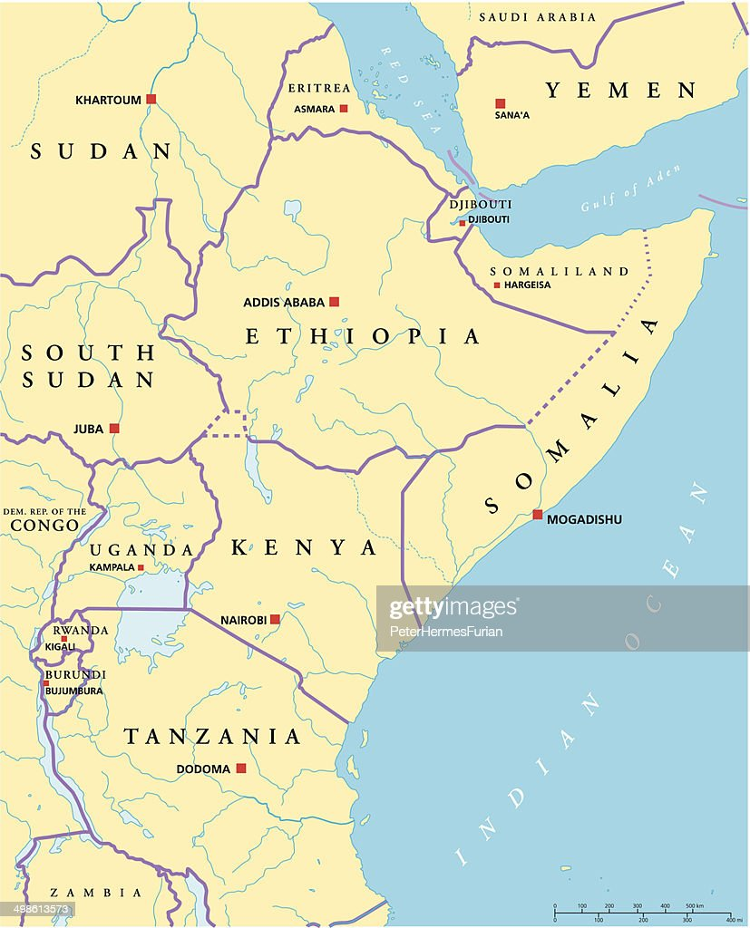 East Africa Political Map
