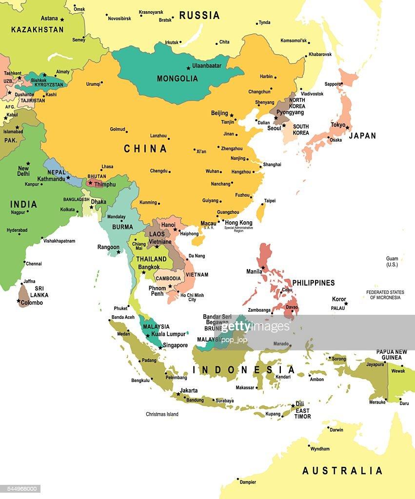 East Asia Map - illustration
