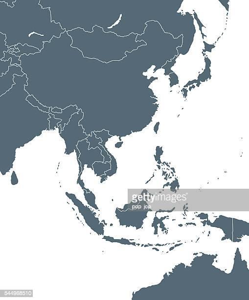 Osten Asien Karte