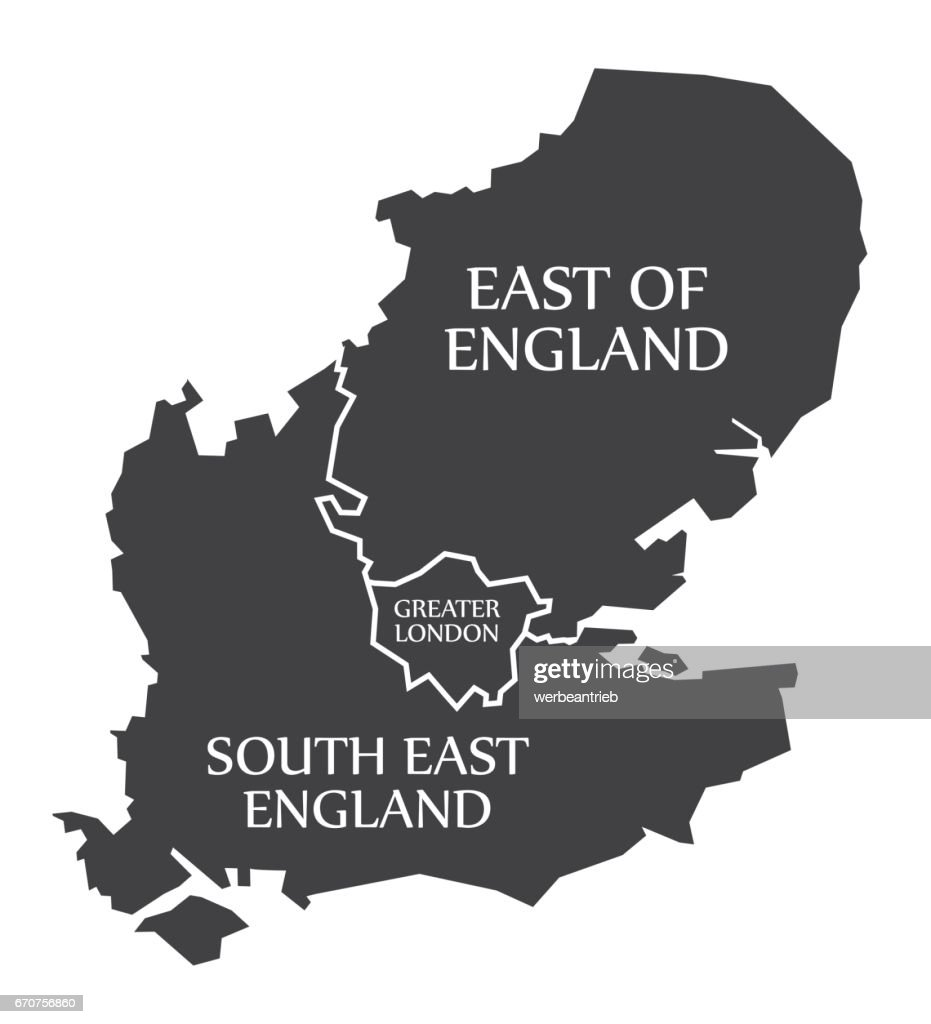 East Of England Greater London South East England Map Uk ... London Uk Map on