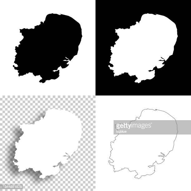 east of england maps for design. blank, white and black backgrounds - line icon - east stock illustrations